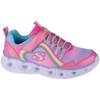 Chaussures Fille Fitness / Training Skechers Heart Lights Rainbow Lux Rose