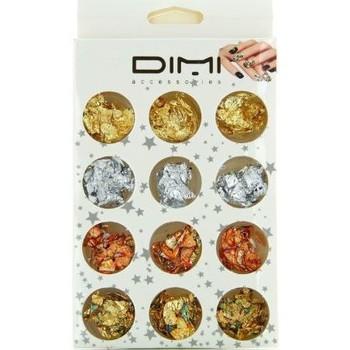 Beauté Femme Accessoires ongles Dimi Accessories Dimi - Boîte de 12 pots feuilles de décoration pour ongl... Autres