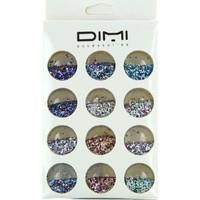 Beauté Femme Accessoires ongles Dimi Accessories Dimi - Boîte de 12 pots paillettes pour ongles Autres