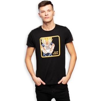 Vêtements Homme Casquette Trucker Albator Capslab T-Shirt homme Dragon Ball Z Majin Vegeta Noir Noir