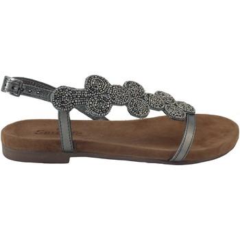 Chaussures Femme Sandales et Nu-pieds Santafe Tara Argenté
