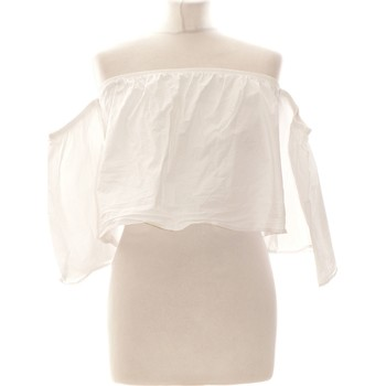 Vêtements Femme Tops / Blouses Forever 21 Top Manches Courtes  36 - T1 - S Blanc