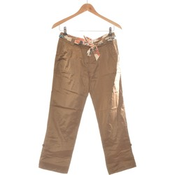 Vêtements Femme Pantalons Billtornade Pantalon Droit Femme  36 - T1 - S Marron