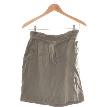 Vêtements Femme Jupes Camaieu Jupe Courte  34 - T0 - Xs Vert
