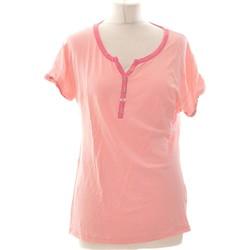 Vêtements Femme Tops / Blouses Damart Top Manches Courtes  40 - T3 - L Rose