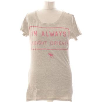 Vêtements Femme Tops / Blouses Abercrombie Top Manches Courtes  38 - T2 - M Gris