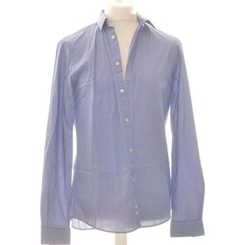 Vêtements Homme Chemises manches longues Celio Chemise Manches Longues  40 - T3 - L Bleu