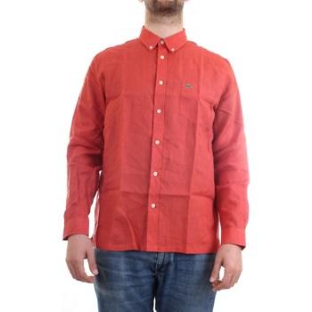 Vêtements Homme Chemises manches courtes Lacoste CH4990 00 Chemise homme rouge rouge