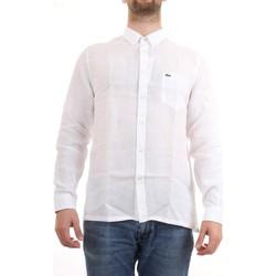 Vêtements Homme Chemises manches courtes Lacoste CH4990 00 Chemise homme Blanc