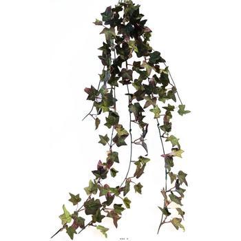 Maison & Déco Plantes artificielles Artificielles Lierre artificiel Vert Rouge en chute H 80 cm 7 ramures dense