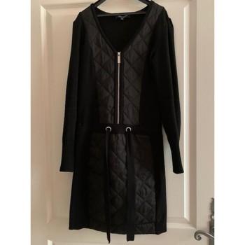Vêtements Femme Robes courtes Morgan Robe bi-matières Noir