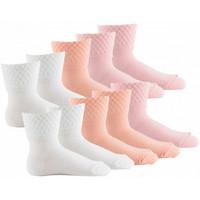 Accessoires Enfant Chaussettes Kindy Lot de 10 paires de socquettes bébé MADE IN FRANCE Rose