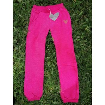 Vêtements Fille Pantalons de survêtement Agatha Ruiz de la Prada Pantalon jogging fille rose chiné Agatha Ruiz de la Prada Rose