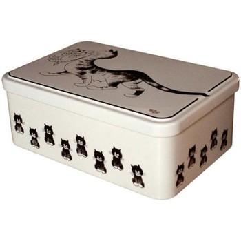 Maison & Déco Paniers, boites et corbeilles Les Chats De Dubout Boite rectangulaire Chaton en bouche - Les chats par Dubout Blanc