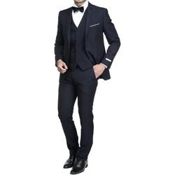Vêtements Homme Costumes  Leader Mode Costume 3 pièces Bleu