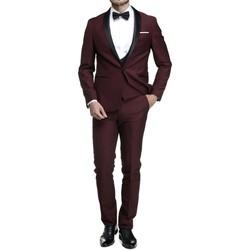 Vêtements Homme Costumes  Leader Mode Costume 3 pièces Rouge