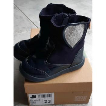 Chaussures Fille Bottes ville Gioseppo Bottes Gioseppo Bleu