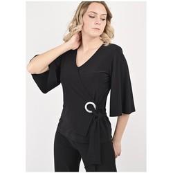 Vêtements Femme Tout accepter et fermer Georgedé Top Paula en Jersey Noir Noir
