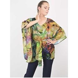 Vêtements Femme Tout accepter et fermer Georgedé Tunique Maelie en Mousseline Imprimée Abstrait Multicolore