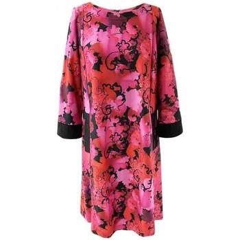 Vêtements Femme Robes courtes Georgedé Robe Lisa Evasée en Jersey Imprimée Fuchsia Multicolore