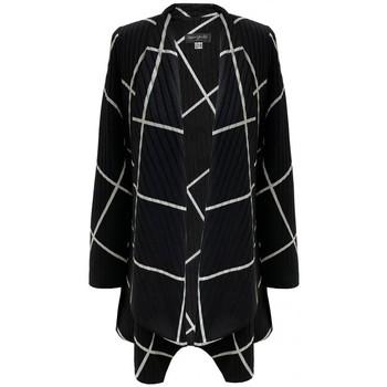 Vêtements Femme Gilets / Cardigans Georgedé Gilet Cécilia en Jacquard Noir