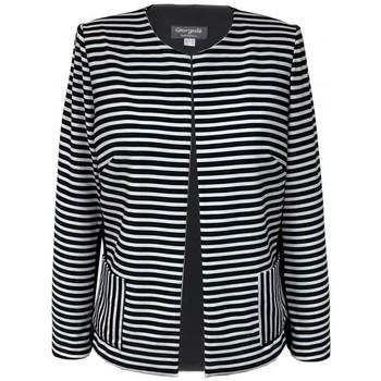 Vêtements Femme Vestes / Blazers Georgedé Veste Graziella Rayée Black&White, Dos Noir Multicolore