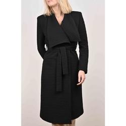 Vêtements Femme Manteaux Georgedé Manteau Audrey en Jacquard Noir Noir