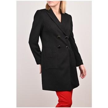 Vêtements Femme Vestes / Blazers Georgedé Manteau Long Laïla en Jacquard Noir Noir