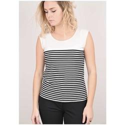 Vêtements Femme Tout accepter et fermer Georgedé Top Cathy en Jersey Imprimé Rayures Blanc Multicolore