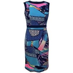 Vêtements Femme Robes courtes Georgedé Robe Droite Alyssa Sans Manche Multicolore