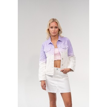 Vêtements Blousons Toxik3 Blouson jean dégradé - Milky Lila