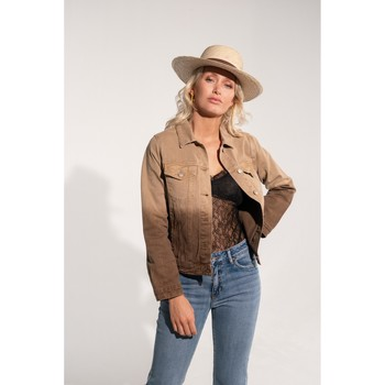 Vêtements Femme Blousons Toxik3 Blouson jean dégradé - Milky Camel