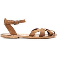 Chaussures Femme Sandales et Nu-pieds Gianluca - L'artigiano Del Cuoio 503-NOCCIOLA-FT BEIGE
