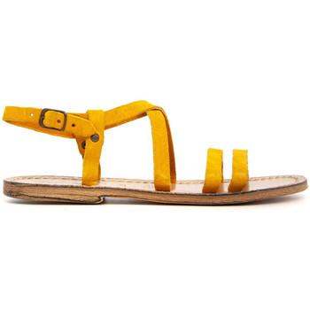 Chaussures Femme Sandales et Nu-pieds Gianluca - L'artigiano Del Cuoio 531-OCRA GIALLO