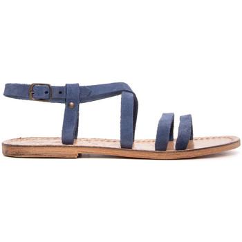 Chaussures Femme Sandales et Nu-pieds Gianluca - L'artigiano Del Cuoio 531-JEANS BLU