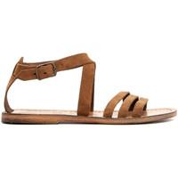 Chaussures Femme Sandales et Nu-pieds Gianluca - L'artigiano Del Cuoio 583-NOCCIOLA-FT MARRONE
