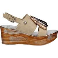Chaussures Femme Sandales et Nu-pieds Byblos Blu 672213 Beige