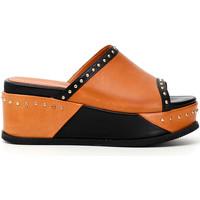 Chaussures Femme Mules Café Noir HH1360 Noir