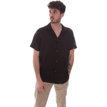 Vêtements Homme Chemises manches courtes Sseinse CE588SS Noir