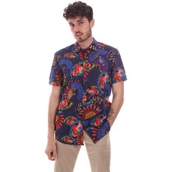 Vêtements Homme Chemises manches courtes Sseinse CE665SS Bleu