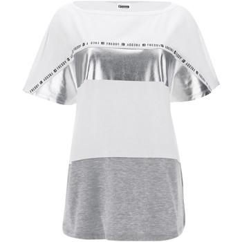 Vêtements Femme T-shirts manches courtes Freddy S1WSDT2M Blanc