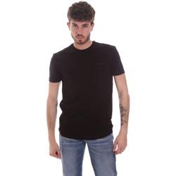 Vêtements Homme T-shirts manches courtes Antony Morato MMKS01855 FA120022 Noir