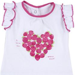Vêtements Fille T-shirts manches courtes Chicco 09067088000000 Blanc