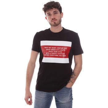Vêtements Homme T-shirts manches courtes Gaudi 111GU64071 Noir