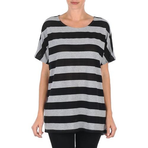 Vêtements Femme T-shirts manches courtes Vero Moda CHELLA 2/4 LONG TOP KM Gris/ Noir