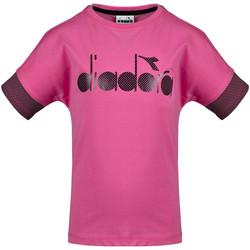Vêtements Enfant T-shirts manches courtes Diadora 102175914 Rose
