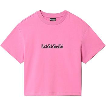 Vêtements Femme T-shirts manches courtes Napapijri NP0A4FHG Rose