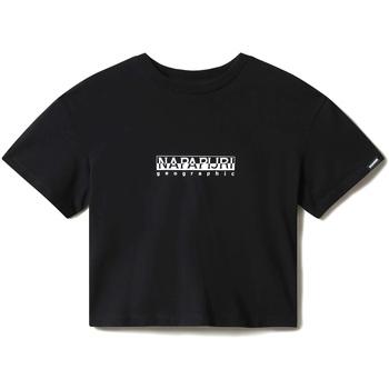 Vêtements Femme T-shirts manches courtes Napapijri NP0A4EYZ Noir
