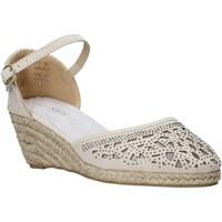 Chaussures Femme Espadrilles Café Noir HR9440 Beige