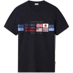 Vêtements Homme T-shirts manches courtes Napapijri NP0A4F6J Bleu